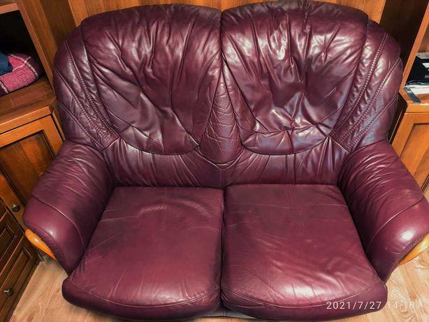 Кресло - диван 2х-местное, натуральная кожа, Италия