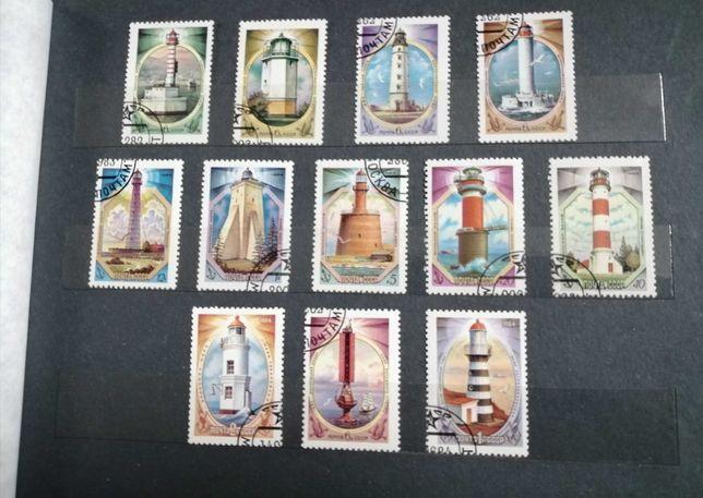 Znaczki pocztowe ZSRR, CCCP latarnie morskie