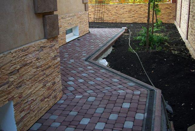 Сырье материалы, Благоустройство территории, укладка тротуарной плитк
