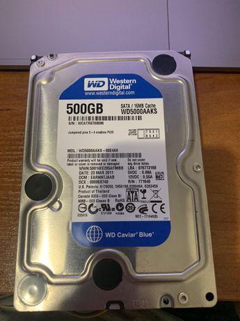 Жесткий диск WD Blue на 500GB (две штуки)