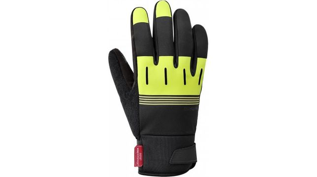 Shimano Rękawiczki Windstopper Thermal czarno-żółte r. L, 343055