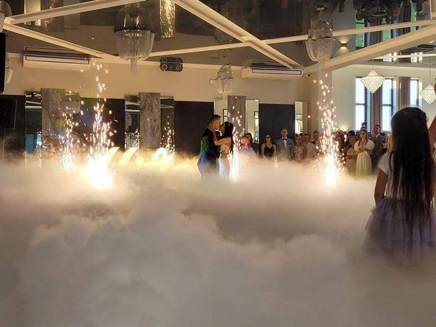 Ciężki Dym. Fontanny Iskier. Napisy. Pirobanery.