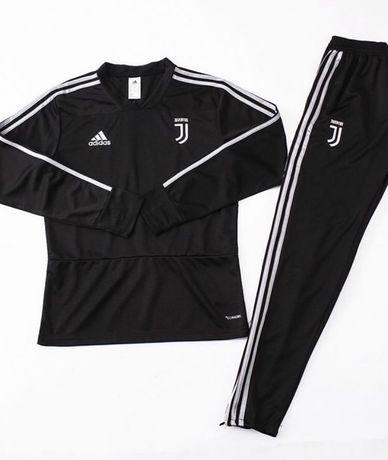 Спортивный костюм adidas, тренировочный костюм Ювентус черный адидас