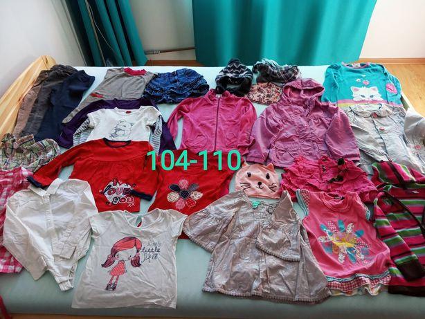 Zestaw 24szt ubranek 104/110 dziewczynka