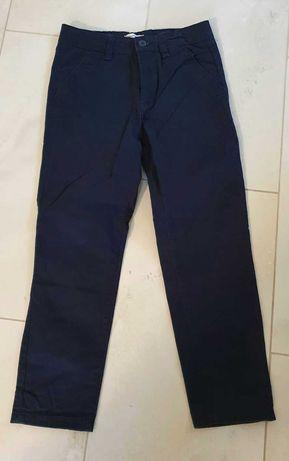 Spodnie granatowe 134 cm, Reserved, stan b.dobry