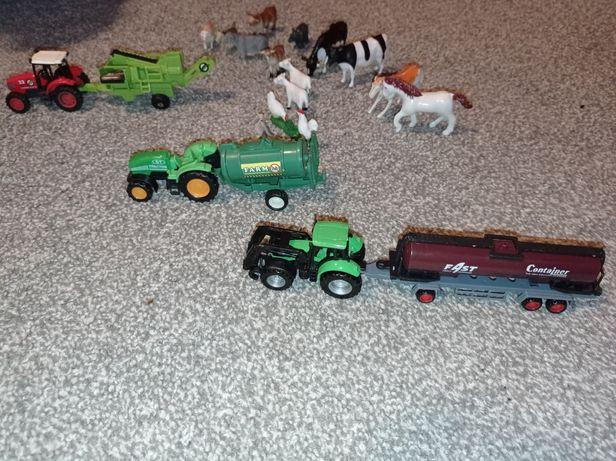 Farma zestaw nr 5 traktor, beczka, kombajn do ziemniaków