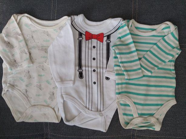 Zestaw body niemowlęce 56 długi rękaw