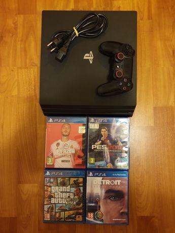PS4 Pro + 1 Comando e 4Jogos