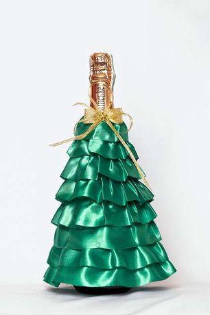 Елочка новогодняя, декоративное новогоднее украшение на шампанское