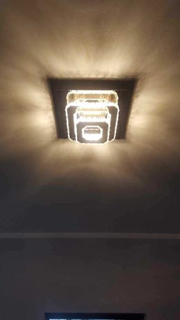 Żyrandol, kryształowy, LED