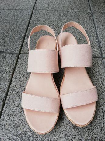 Sandały, sandały na koturnie H&M rozmiar 42