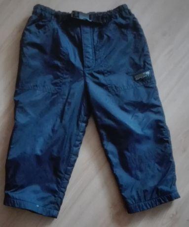 Spodnie zimowe, ortalionowe, na polarze, rozmiar 92
