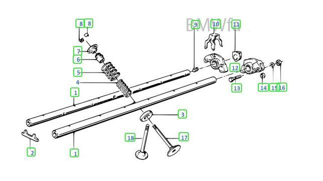 Tampas balanceiros/touches BMW para motores M20