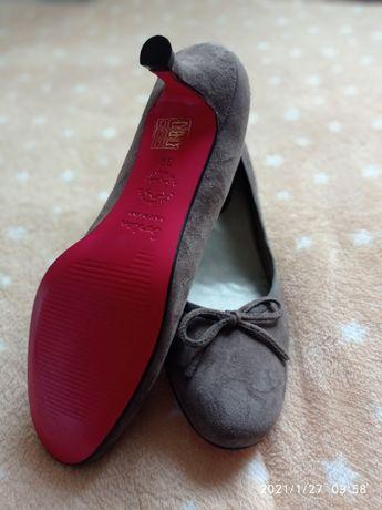 Туфли кожа Испания серые размер 38