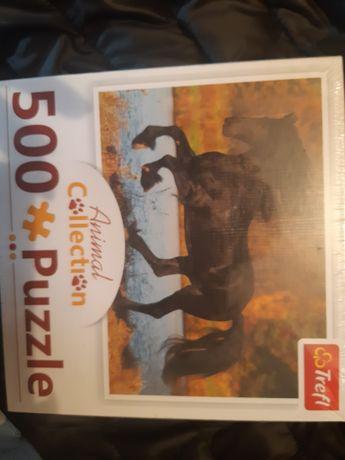 Nowe puzzle 500 konie koń trefl animal collection