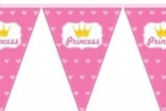"Гирлянда-флажки (вымпел) ""Принцесса"" Princess герлянда розовая"