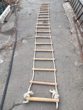 Лестница веревачная