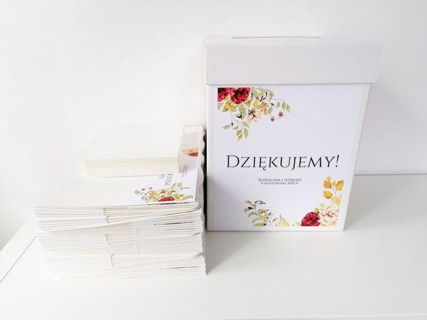 Pudełko na koperty weselne ZŁOTA JESIEŃ