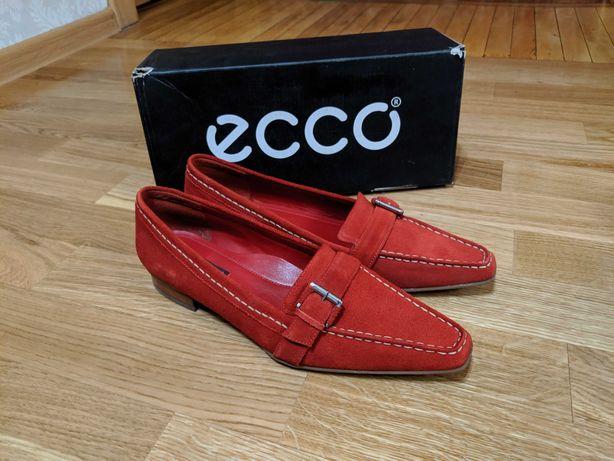 Новые туфли Ecco Экко замшевые р.38 бесплатная олхдоставка