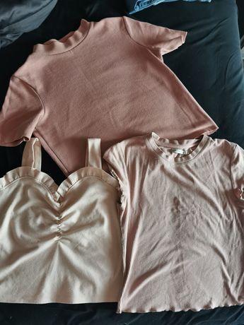 Bluzeczka, półgolf, brudny róż