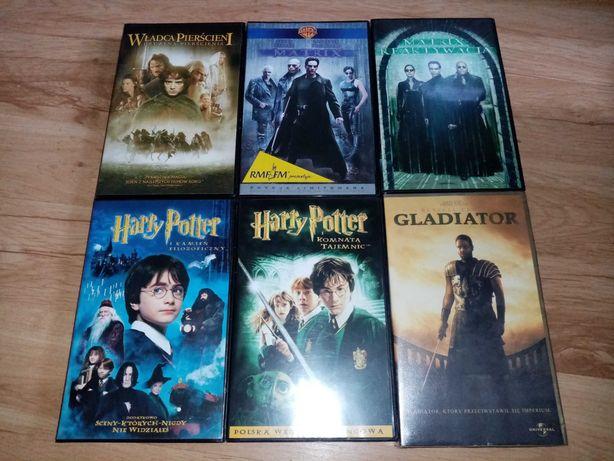 Kasety VHS Władca Pierścieni Matrix Harry Potter Gladiator
