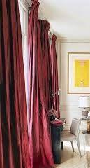 2 Cortinas Pink Avermelhado Escuro Acetinados