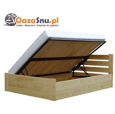 łóżko ze skrzynią otwierane na bok stelaż elastyczny SAND 160x210