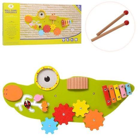 Деревянная игрушка Бизиборд Крокодил MSN17077