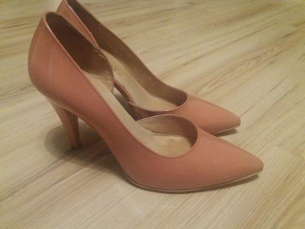 Szpilki, buty na obcasie skórzane Ryłko Estima rozmiar 38,5