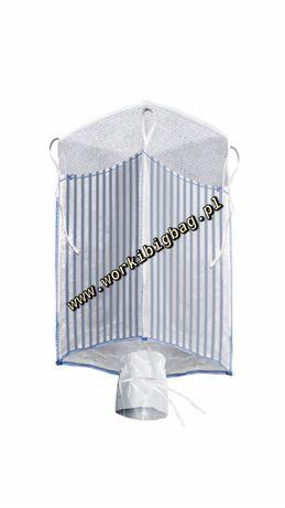 Worki Big Bag Bagi Wentylowane Raszlowe 97/97/200 BIGBAG 1300kg