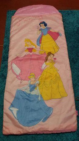 покрывало на кровать или мешок для сна с принцессами 90гр