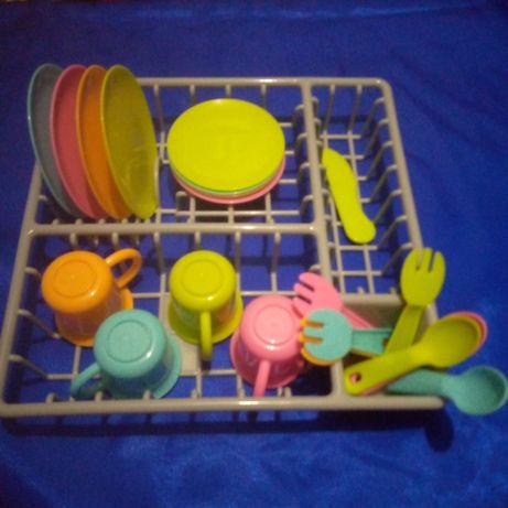 Набор игровой посудка в корзине-сушке Ашан