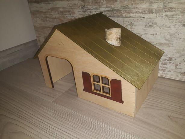 Domek drewniany dla świnki morskiej