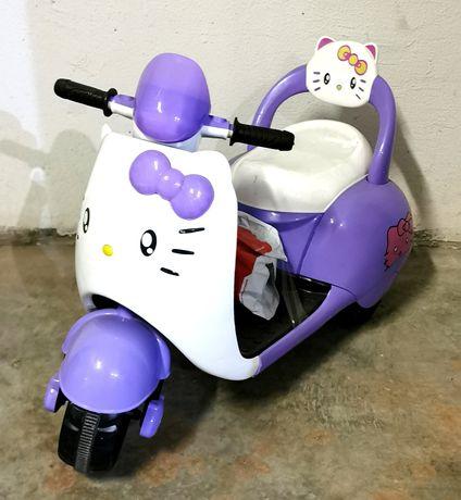 Детский электро мотоцикл Bambi Hello Kitty електро