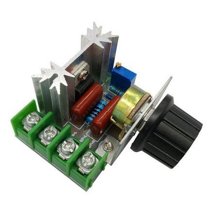 Регулятор напряжения димер 220В 2000Вт вращения, освещения, нагрева
