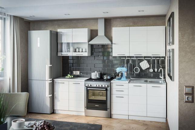 """Кухня """"Бьянко"""" Цвет: Белый - 2.0 метра, Может быть другой размер."""