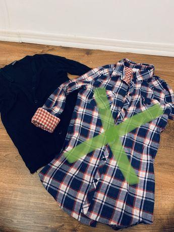 Koszula krata sweterek czarny zestaw! Roz M