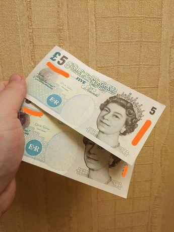 5 фунтов стерлингов, 2002г., как новые