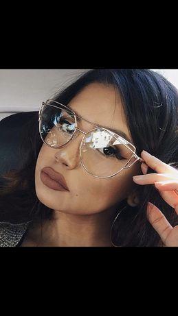Oprawki okulary złote zerówki