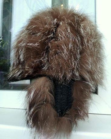 Продается вязаная шапочка из чернобурки