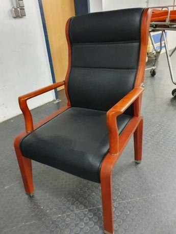 Fotel krzesło 18 szt. drewno eco skóra