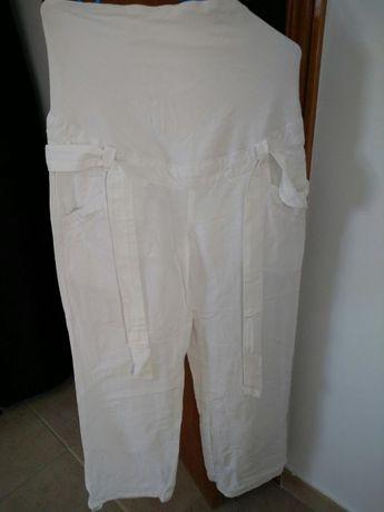Calças Brancas Pré Mamã T 38 H&M como Novas