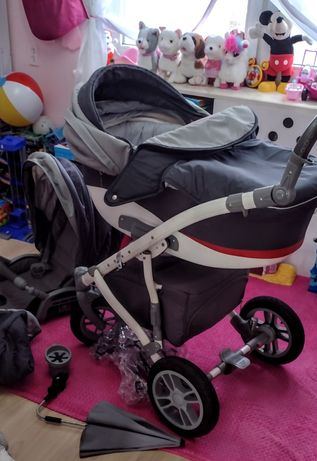 Wózek dziecięcy 2w1- gondola i spacerówka+ kokon niemowlęcy+ gratisy