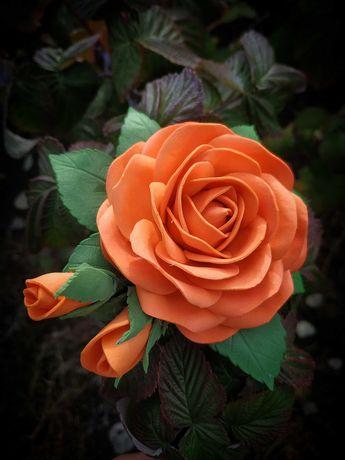 Ніжні троянди із фоамірану на заколці,резинці, пов'язці, обручі