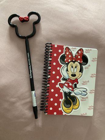 Conjunto Caderno A5 Minnie Mouse e Caneta/ Disneyland Paris / NOVO