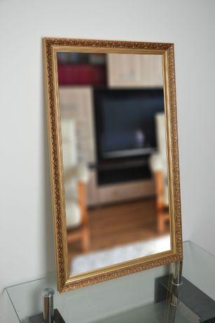 Piękne duże zdobione lustro 80x170cm złote 6001