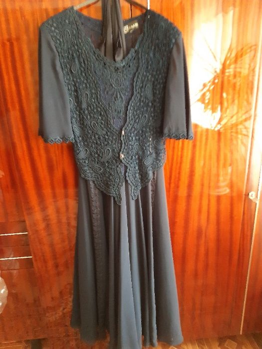 Продам платье синее нарядное б\у Луганск - изображение 1
