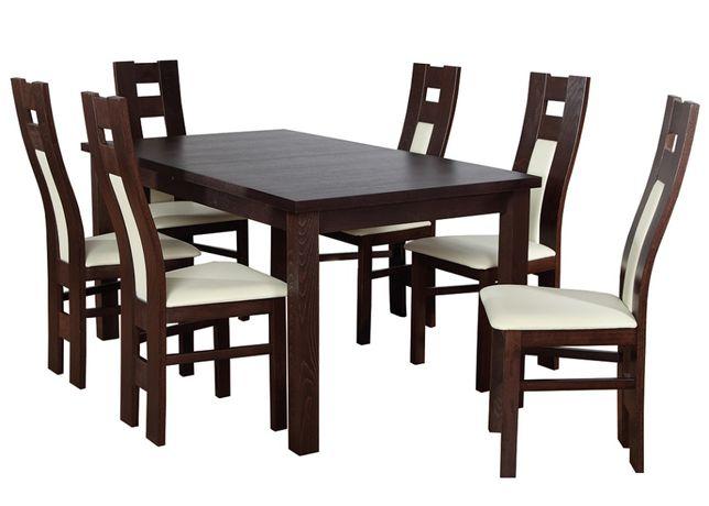 Ładny zestaw stół+6 krzeseł DO KAŻDEGO POMIESZCZENIA