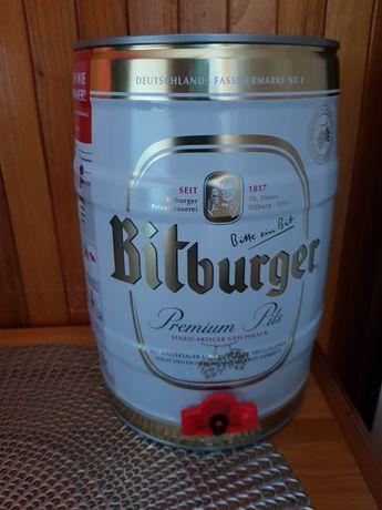 Niemieckie piwo Bitburger 5l.