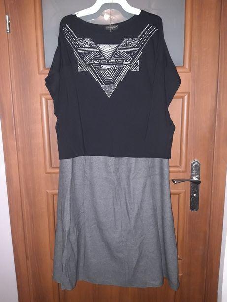 Zestaw dla Modnej Pani, spódnica plus bluzka, rozm.46